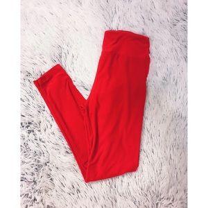 LuLaRoe Red One Size Leggings